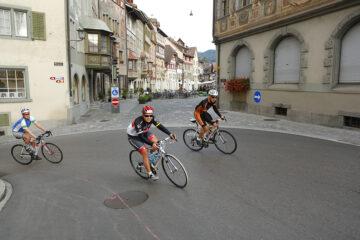 Teilnehmer des Bodensee Radmarathons in Stein Am Rhein